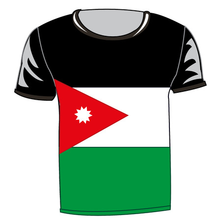 T-shirt with flag  of Jordan