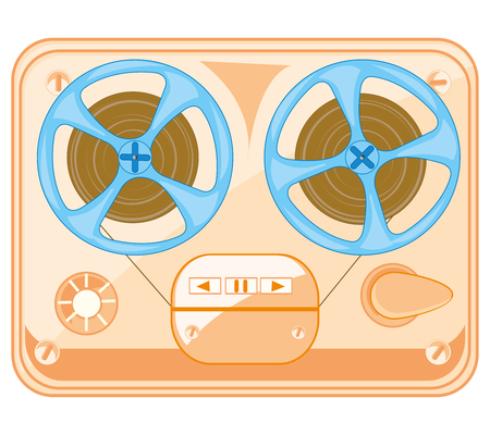 Old-time music player spool Illustration