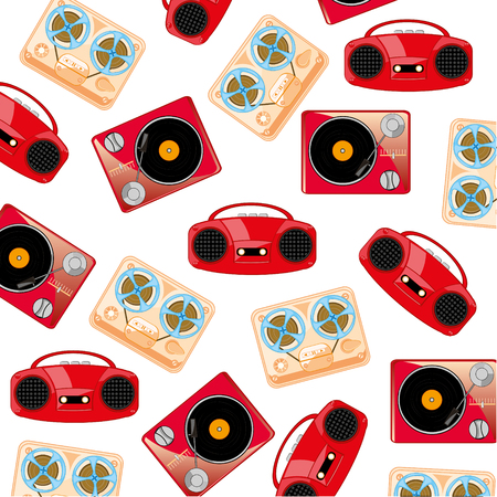 Old music players pattern