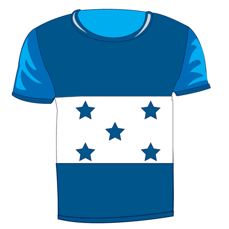 T-shirt flag Honduras on white background is insulated Illustration