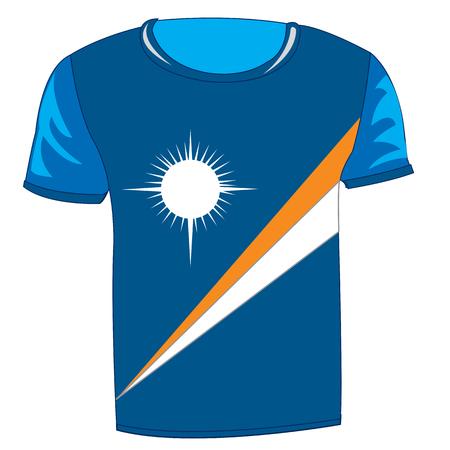 T-shirt flag Marshallovy island Vector illustration.