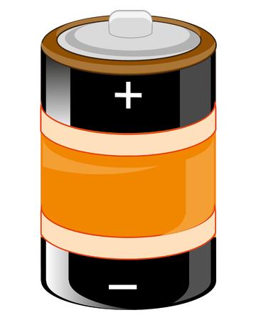 Alkaline battery of the round form illustration. 版權商用圖片 - 96469095