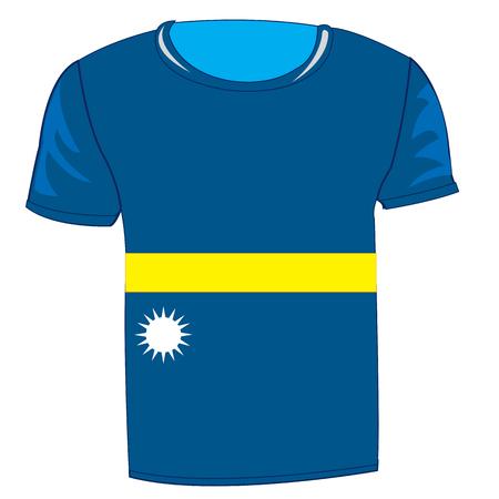 T-shirt flag Nauru.