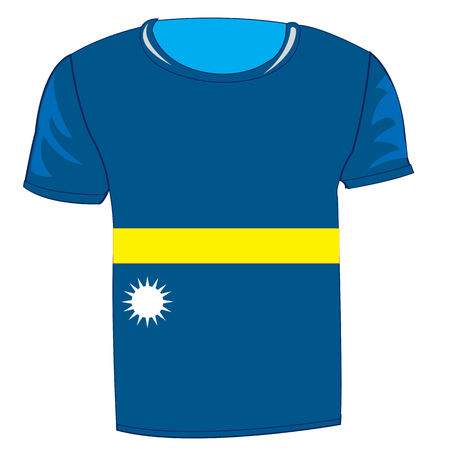 T-shirt flag Nauru.