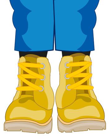 Legs dressed in shoe