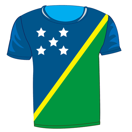 Tshirt with flag of Solomon Islands design.