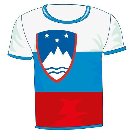 T-shirt with flag of Slovenia design Illustration