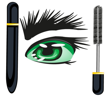 Mascara for brows and eye illustration Çizim