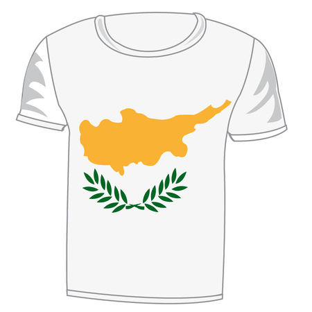 Cloth flag Cyprus