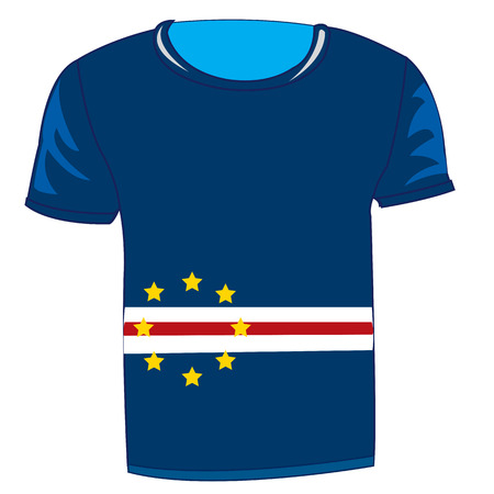 T-shirt flag Kabo - Verde.