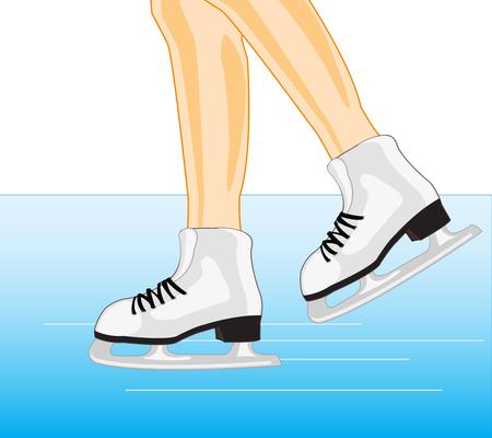 Legs in skates Illustration