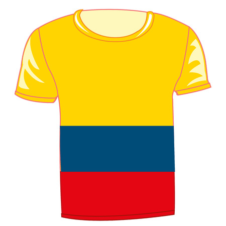 T-shirt design with flag of Columbia vector illustration