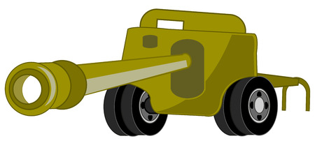 Artillery weapon vector design.