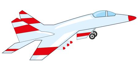 Plane to military aviation icon Illustration