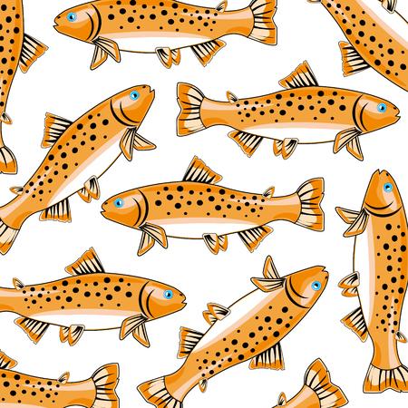 Fish trout pattern