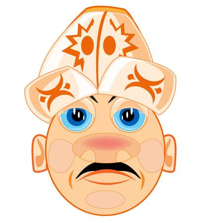 National headdress on head