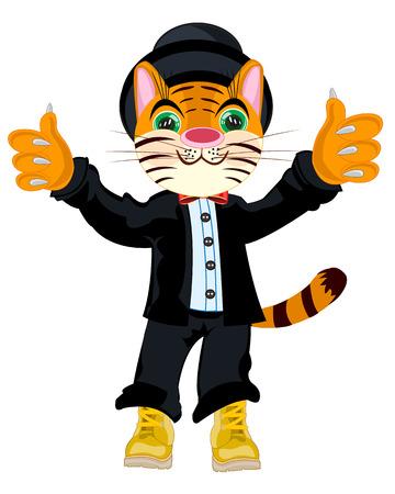 Tiger in suit Illustration
