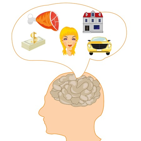 Brain of the person and his desires
