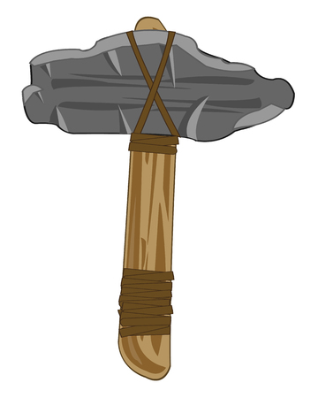 Vector illustration of the ancient weapon stone axe
