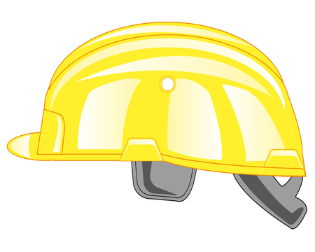 Helmet building wanted colour on white background is insulated