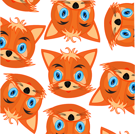 Vector illustration of the mug of the fox decorative pattern