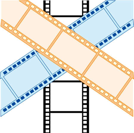 Vector illustration of the old-time movie film for photography and film