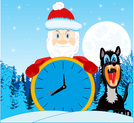 Grandparent frost since hour waits coming the new year
