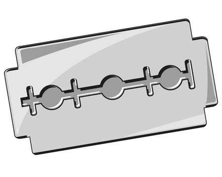 Vector illustration of the sharp blade for shaving