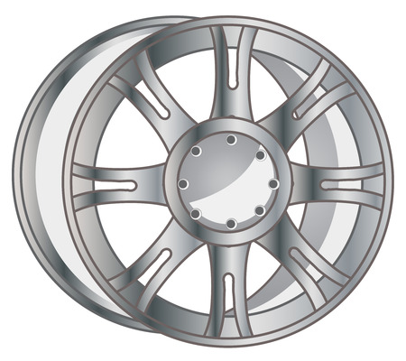 Vector illustration of the steel disk from travell about car