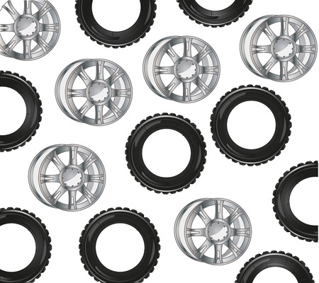 Rubber from travell about car and rim decorative pattern