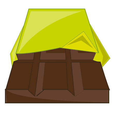Vector illustration delicacies chocolate in revealled to packing