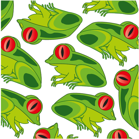 Animal frog decorative pattern on white background is insulated