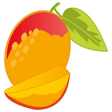 Fruit mango on white background is insulated