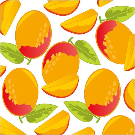 Vector illustration of the pattern of the ripe fruit mango