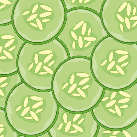 Decorative background from cut a vegetable cucumber