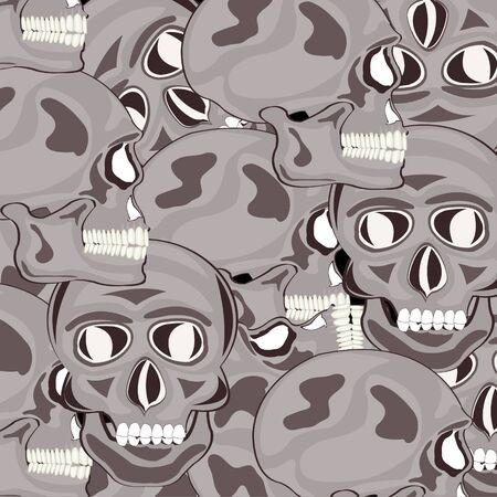 Decorative background from skull of the person Illustration