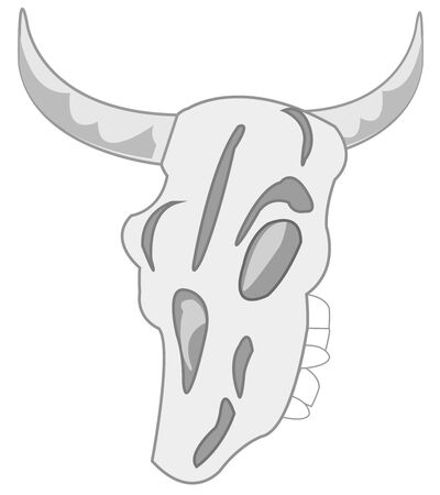 Skull animal on white background is insulated Ilustrace