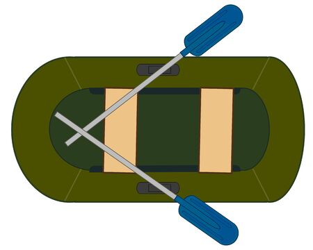 illustration of the inflatable rubber boat Ilustrace