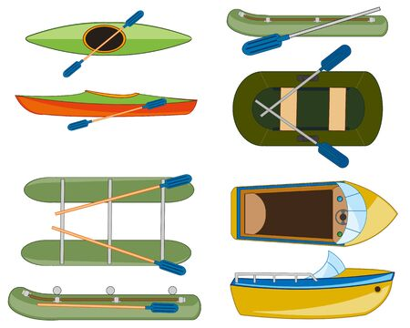 Vector illustration type of the water transport facilities for sport and rest