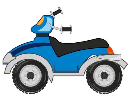 Transport quad bikes on white background is insulated