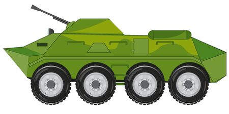 Vector illustration of the military machine of the combat machine