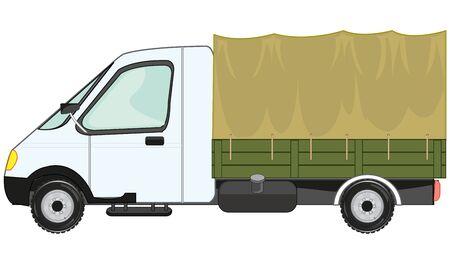 Vector illustration of the small car gazelle Ilustração