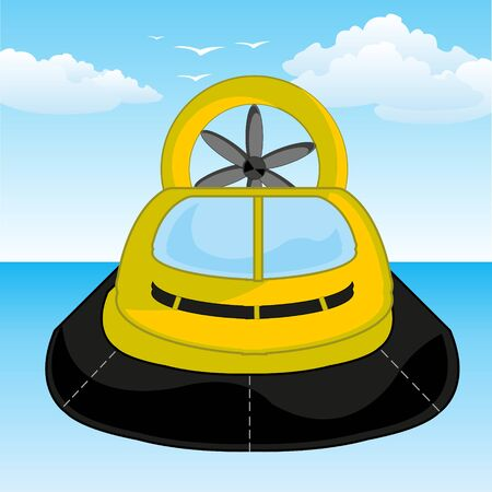 Transport facility on air pillow in ocean