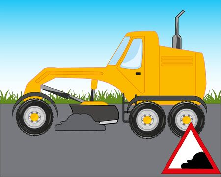 Road technology grader concerns with repair of the road