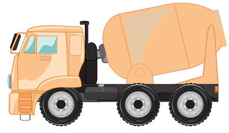 Vector illustration special car concrete mixer cartoon 向量圖像