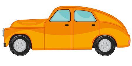 Vector illustration of the cartoon passenger retro car