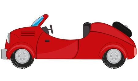 Cartoon of the car cabriolet on white background is insulated Ilustracja
