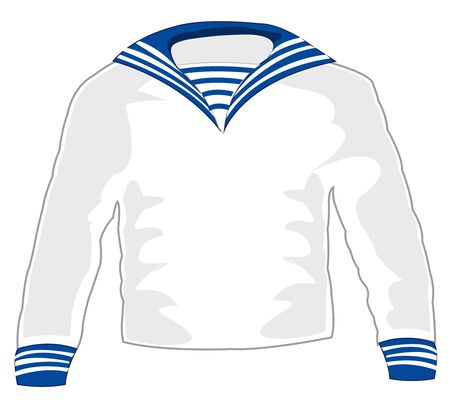 Cloth of the sailor on white background is insulated