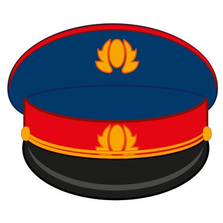 Headdress of the employee to police bodies service cap