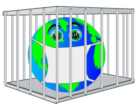 Planet land on quarantine insulated in hutch